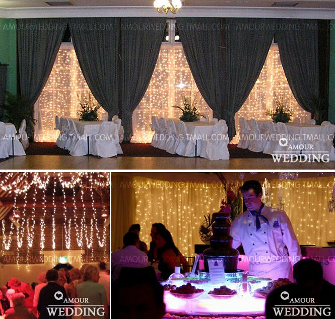 Fashion Wedding LED Lights Decorations Waterfall 300 Lights Wedding Room  Party Home And Garden Decoration Photography Prop 3 Meter Wedding  Decorations ...