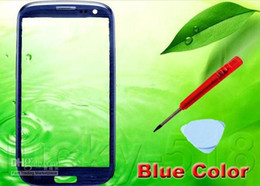 Wholesale Galaxy S3 Glass Replacement Blue - Front Screen Glass Lens Outer Digitizer Cover Glass Replacement Repair Parts for Galaxy S3 SIII i9300 Black blue white