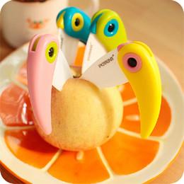 Wholesale Lovely Gadget - Lovely Color Bird Fruit Knife MINI Vegetable Peelers & Zesters Folding Knife Portable Kitchen Gadgets SK005