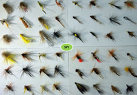 Wholesale soft worms - Wholesale Top quality dry fly lures 120pcs brand new various fly fishing lures Fishing Tackle