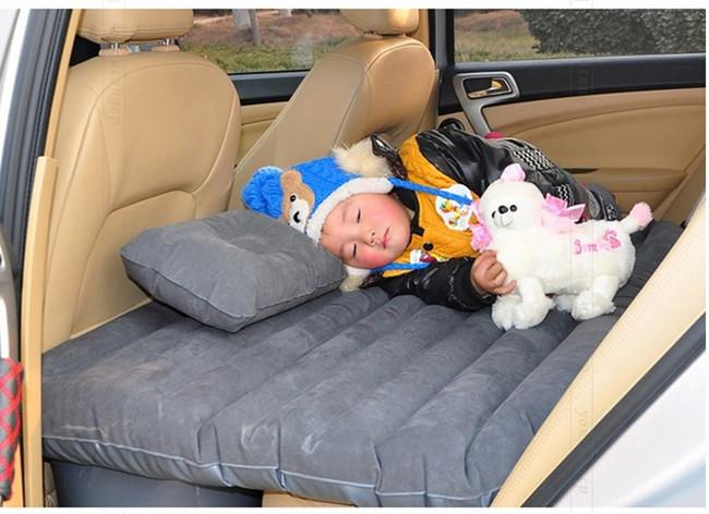Car Travel Inflatable Bed Air Mattress Back Seat Cushion With ...