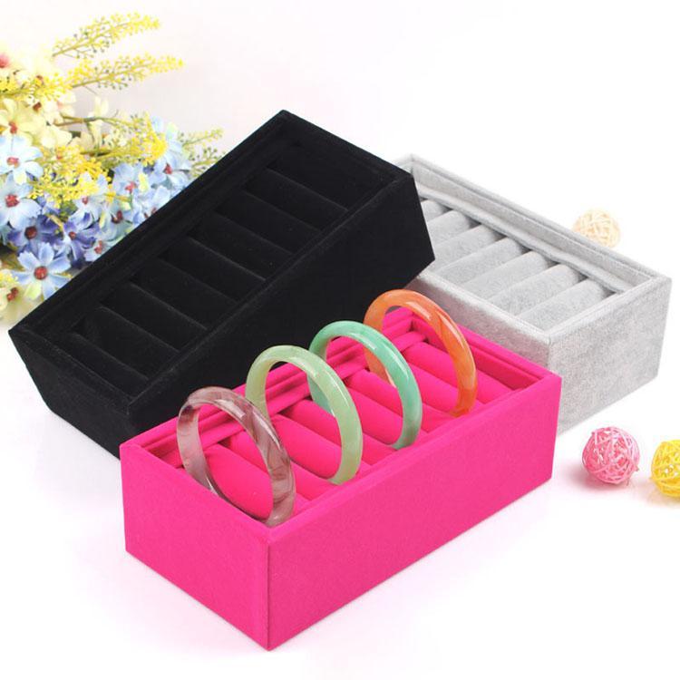 SingleRow 8 Booth Bracelet Tray Upscale Velvet Ring Holder Bracelet