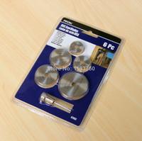 Wholesale Circular Set - Free Shipping 6pc Hss Circular Saw Disc Set blade kit Fits Dremel Mini Drills Rotary Tools Cutting Blade
