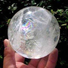 Драгоценный камень 40mm естественного шарика сферы кварца ясности радуги кристаллического заживление на Распродаже