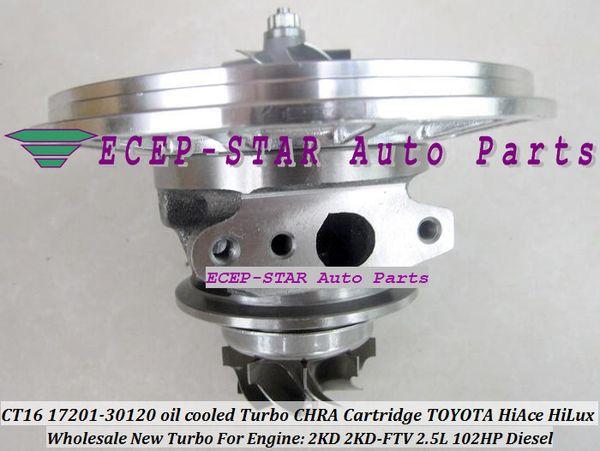 Turbo CHRA Cartridge Turbocharger CT16 17201-30120 1720130120 oil cooled For TOYOTA HI-ACE HI-LUX HiAce HiLux 2KDFTV 2KD 2KD-FTV 2.5L 102HP