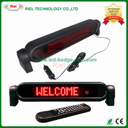 Wholesale Led Sign Board Car - Car 12V LED Message Sign Programmable Scrolling Display Board Red 7*50 Dots