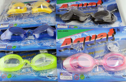 Wholesale Boys Dive - Antifog Waterproof Children's Kids Boys Girls Swimming Goggles+Earplugs+Nose Clips Diving Candy Color Swim Eyewear Retail Packing