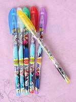 Wholesale Cartoon Highlighter - lot new 10 Box 60 Pcs Frozen Princess Fruits Scent Pen super fruits scent cartoon blink pen pen 6 Color Highlighter
