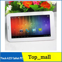 Wholesale Cheap Phablet Phones - 7inch Phablet Allwinner A23 2G GSM Phone Tablet PC 512M 4GB Bluetooth Dual Camera Android 4.0 Support youtube playstore Cheap tablet 002396