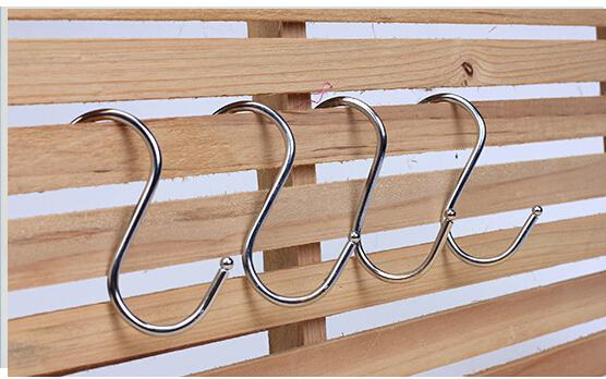 top popular Stainless S Hooks Kitchen Pot Pan Hanging Hanger Rack Home Clothes Holder 2019