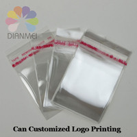 Wholesale Opp Bag Print - Wholesale 400pcs lot 9x12cm White Clear Self Adhesive Seal Plastic OPP Jewelry Packaging Bags Can Customized Logo Printing