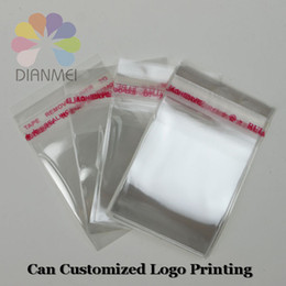 Wholesale Customize Opp Bag - Wholesale 400pcs lot 9x12cm White Clear Self Adhesive Seal Plastic OPP Jewelry Packaging Bags Can Customized Logo Printing
