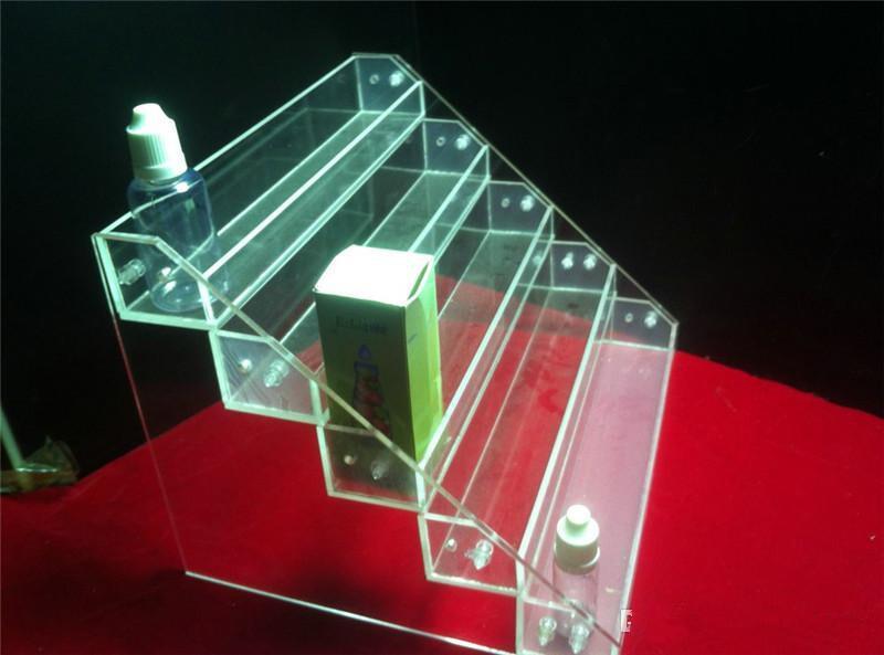 Elektronische Zigarette Display Stand E Zigarette Acryl Showcase Ego Halter Rack Ausstellung Regal für Ego Batterie Zerstäuber Tropfspitze E Flüssigkeit
