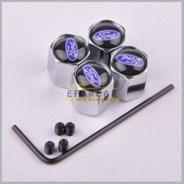 Wholesale 10Set Wheel Tyre Tire Valve Stem Air Dust Covers Caps Anti Theft Locking Tire Air Caps For Ford set