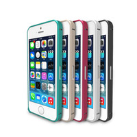 Top Quality Ultrathin Call Phone Frame Casos Protector Luxo Metal Alloy Bumper Cover Caso de alumínio para iPhone 5 5S