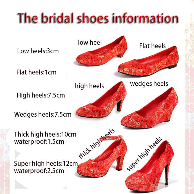 2016 New Arrived 6 Styles Bridal Wedding Shoes Classic Chinese ...