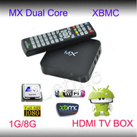 Wholesale Dual Core M6 8726 - XBMC Installed MX2 4.2 OS Jelly Bean Android TV BOX Dual Core MX Media Player Amlogic 8726 Cortex A9 M6 MX1 MKV 3D Movie Games Navi-X 1080P