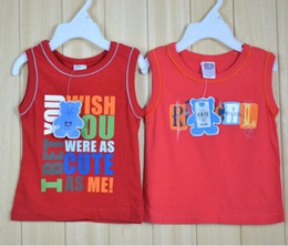 Wholesale Boys Singlets - Free Shipping Brand New Baby Singlets Tank Tops Sleeveless t-shirts Retail 6-24month