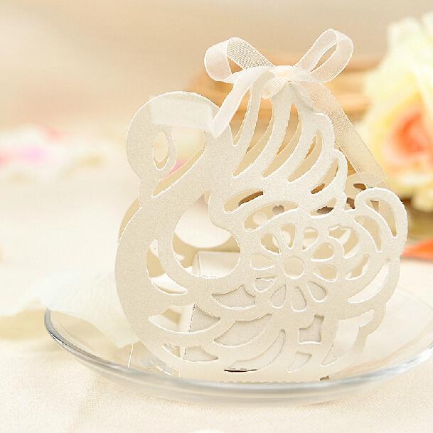Swan Wedding Gift Return: Elegant Swan Gift Candy Box Wedding Favors Candy