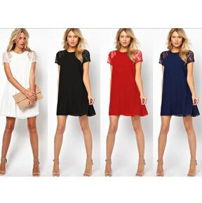 أزياء المرأة زائد حجم الدانتيل فساتين السيدات تنورة قصيرة فستان من الشيفون البوهيمي الصيف فستان جديد مثير bodycon نادي المساء حزب اللباس YQ36