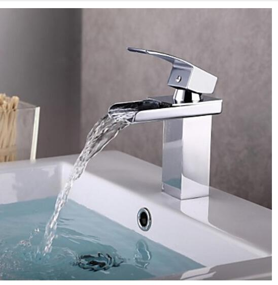 best selling Modern Chrome Bathroom Basin Faucet Single Handle Sink Mixer Tap Deck Mounted