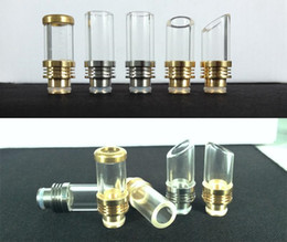 Discount wide bore drip tip kanger protank Clear Rich Style Muffler Drip Tips Wide Bore Glass Drip Tip Large Pyrex 510 Mouthpiece for CE4 CE6 Globe Kanger protank