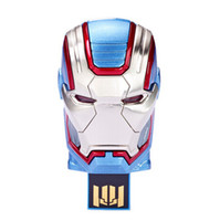 Wholesale Iron Man Drive 32gb - Iron Patriot LED USB 3.0 256GB 128GB 64GB Iron Man Patriot USB Flash Drive DHL Free Shipping