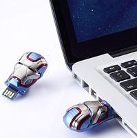 demir adam usb flash sürücü 64gb toptan satış-Demir Patriot LED USB 3.0 256 GB 128 GB 64 GB Demir Adam Patriot Mark II Zırh Tasarım USB Flash Sürücü DHL Ücretsiz Kargo