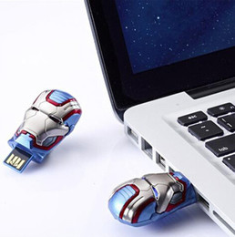 Wholesale Iron Men 256gb - Iron Patriot LED USB 3.0 256GB 128GB 64GB Iron Man Patriot Mark II Armor Design USB Flash Drive DHL Free Shipping