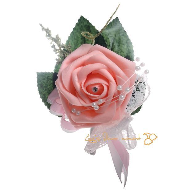 Groomsmen / Groom Boutonniere Corsage Simulation Aktiviteter Gäster Skum Rose Corsage Brud / Bridesmaid Corsage