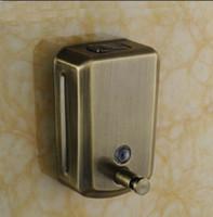 Wholesale Wall Mounted Hand Soap Dispensers - Wall Mounted Antique Bronze Bathroom Soap Dispenser Liqui Soap Box Holder 800 ML