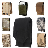 Wholesale Mobile Phone Holster Leather - 2015 NEW Mobile Phone Bag Outdoor MOLLE Army Camo Camouflage Bag Hook Loop Belt Pouch Holster Cover Case For Multi Phone Model