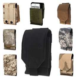 Wholesale Camo Pouch - 2015 NEW Mobile Phone Bag Outdoor MOLLE Army Camo Camouflage Bag Hook Loop Belt Pouch Holster Cover Case For Multi Phone Model