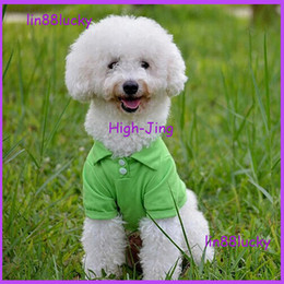 Wholesale New Beautiful Shirts - beautiful Pet clothes dog T shirt pet summer clothes pet polo cotton t shirt