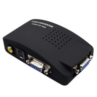 Wholesale S Video Switches - TV AV Composite RCA S-Video to PC VGA Converter Switch Drop shipping