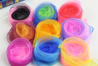Wholesale Sheer Scarves Wholesale - Fashion women girl scarf kids children GradientRamp candy color sheer muffle Scarf wraps neckerchief hood headband perform props