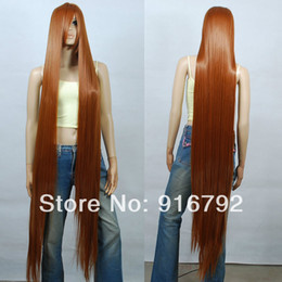 Wholesale Wig Chocolate - FREE SHIPPING >>150cm Chocolate Brown Heat Styleable Extra Long Cosplay Wigs