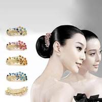 Wholesale Peacock Hair Barrettes - Free ship!20pc!Peacock hairpin   top hair accessory   cross diamond hair clip   Headgear   hair orn