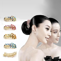 Wholesale Wholesale Diamond Barrette - Free ship!20pc!Peacock hairpin   top hair accessory   cross diamond hair clip   Headgear   hair orn