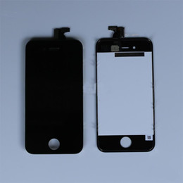 Wholesale Cheap Iphone Digitizer Screen - RETINA LCD Display Touch Screen Digitizer Replacement Part for iphone 4 4S Black White 20pcs LOT high quality with cheap price