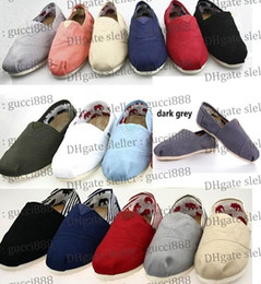 Wholesale Canvas Slip Shoes Single - Free shipping 2014 brand new women and men canvas shoes canvas flats loafers casual single shoes solid flat sneakers for women
