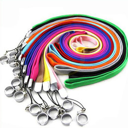Wholesale String Lanyards Rings - Ego colorful Lanyard String Neck Chain Sling w Clip Ring for Ego Series EGO eGo-T eGo-W eGo-C eGo-C Twist battery E-cigarette