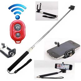 Uzatılabilir El Öz portre Monopod selfie sopa Fotoğraf Bluetooth Deklanşör Kamera Uzaktan Kumanda monpod + deklanşör + klip nereden
