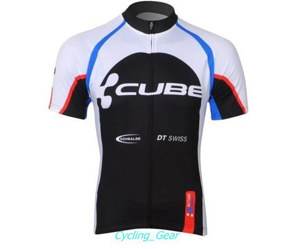 2015 Cube Action Team Cycling Jersey Men Black Cycling Shirt Anti Pilling  Bike Wear Short Sleeve
