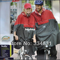 Wholesale Waterproof Cycling Cape - Wholesale-407-Lovers' men woman freesize ventilate CYCLIST red,blue cycling raincoat cape poncho windbreak waterproof for height of160-180cm