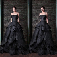 Wholesale Nude Corsets - 2015 Best Selling Luxury Formal Gown Sweetheart Floor Length Ball Gown Black Lace Applique Layers Corset Party Evening Dresses EM02611