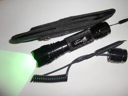 Ultrafire WF-501B Mini Taschenlampe 1-Modus Cree Q5 grüne LED taktische Taschenlampe 18650 und Remote-Druckschalter + Holster Kostenloser Versand von Fabrikanten