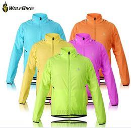 Wholesale Tour France Vests - WOLFBIKE Tour de France Cycling Jersey Men Riding Breathable Jacket Cycle Clothing Bike Long Sleeve Vest Wind Coat cap