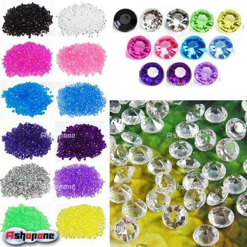 12x(1000pcs/pack) Wedding Table Confetti Diamonds Scatter Crystals Decorations Free Shipping