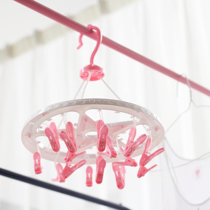 2019 1459 Round Plastic Folding Clothes Drying Rack Drying Racks